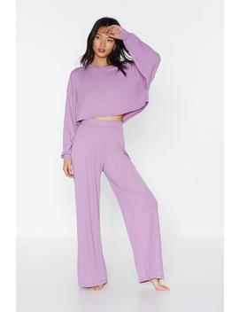 Let Loose Wide Leg Joggers by Nasty Gal
