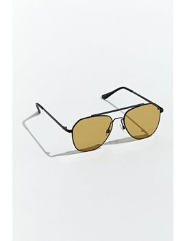 Color Lens Wire Navigator Sunglasses by Urban Outfitters