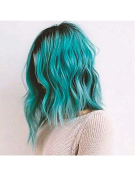 Entranced Styles Ombre Wig For Women Short Wavy Wig With Side Part Curly Bob Wig For Girls Heat... by Entranced Styles