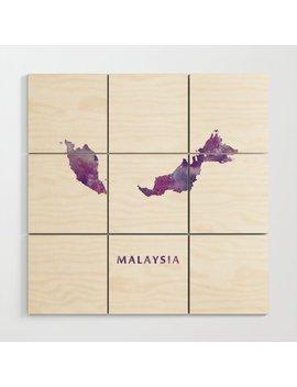 Malaysia Wood Wall Art by Society6