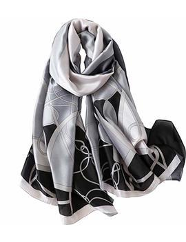 Nuweerir Womens 100 Percents Mulberry Silk Scarf Long Satin Scarf Fashion Designer Scarf Lightweight Neck Wear by Nuweerir