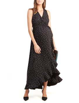 Active Racerback Ruffle Maternity Maxi Dress by Ingrid & Isabel®