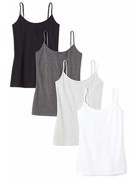 Amazon Essentials Women's 4 Pack Camisole by Amazon Essentials