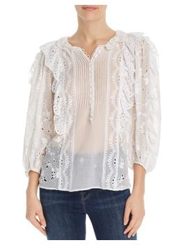Livy Eyelet Lace Top by Rebecca Taylor