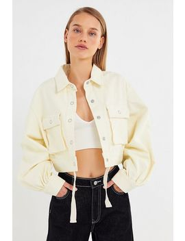 Bdg Jules Puff Sleeve Cropped Jacket by Bdg