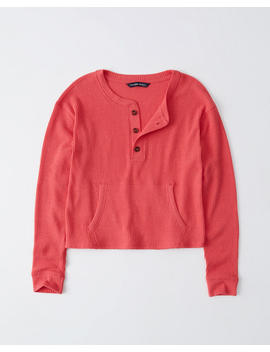 Cozy Ribbed Henley by Abercrombie & Fitch