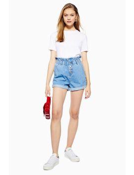 Petite Paperbag Denim Shorts by Topshop