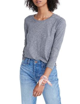 Whisper Cotton Long Sleeve Crewneck Tee (Regular & Plus Size) by Madewell