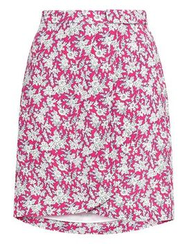 Bow Detailed Floral Print Woven Mini Skirt by Claudie Pierlot