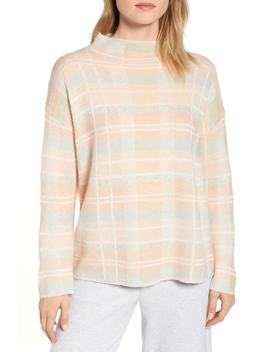 Plaid Mock Neck Sweater by Lou & Grey