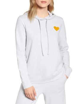 Conscious Cotton Heart Patch Hoodie by Lou & Grey