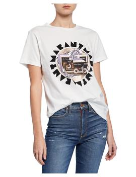 Logo Disco Ball Graphic T Shirt by Isabel Marant