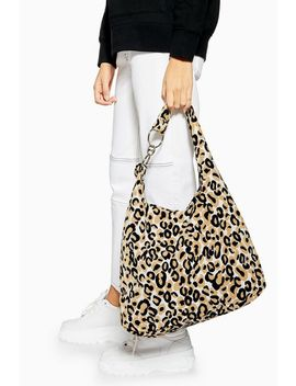Zambia Leopard Slouch Tote Bag by Topshop
