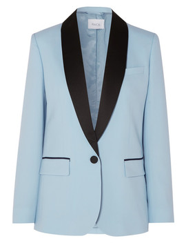 James Satin Trimmed Wool Blazer by Racil