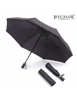 Rechar Windproof Large Travel Umbrella 一 52 Inch Automatic Unbreakable Umbrella, Men&Women Totes Umbrella, 1 Year Quality Warranty No Refund by Rechar