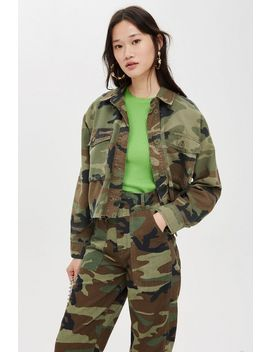 Petite Camouflage Shacket by Topshop