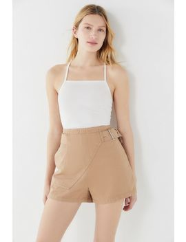 Uo High Rise Belted Short by Urban Outfitters
