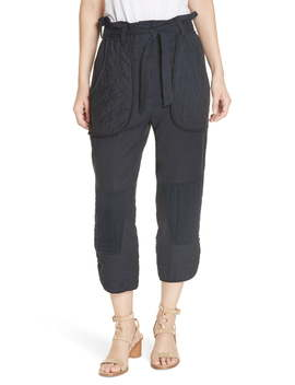 O'keeffe Quilted Patch Crop Pants by Sea