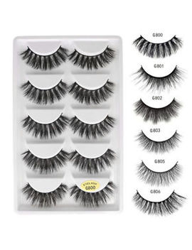 3 D 5 Pairs Mink Natural Thick False Fake Eyelashes Eye Lashes Makeup Extension by Unbranded