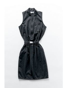 Vintage Black Zip Shirt Dress by Urban Renewal