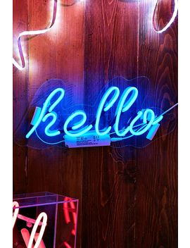 Locomocean Hello Neon Wall Light by Locomocean