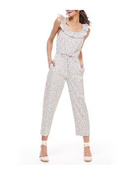 Rue Ruffle Neck Jumpsuit by Gal Meets Glam Collection