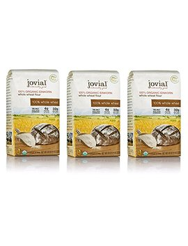 Jovial 100 Percents Organic Einkorn Whole Wheat Flour(3 Pack) by Jovial