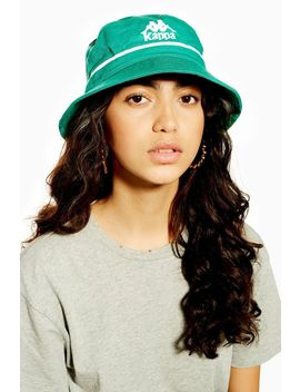 Green Authentic Bucket Hat By Kappa by Topshop