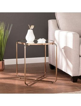 Silver Orchid Grant Champagne Mirrored Accent Table by Silver Orchid