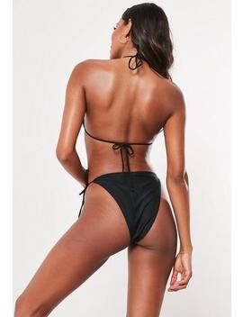 Black Tie Side Bikini Bottoms   Mix & Match by Missguided