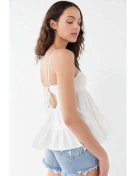 Uo Cotton Candy Tie Back Babydoll Top by Urban Outfitters