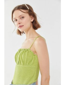 August Smocked Ruched Cami by Urban Outfitters