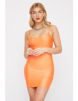 Neon Shine Sleeveless Bodycon Mini Dress by Urban Planet