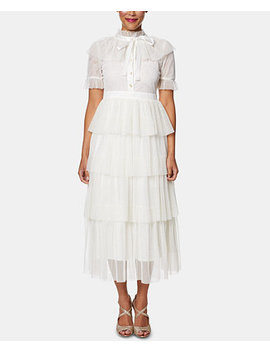 Tulle Tiered Gown by Betsey Johnson