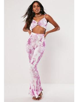 Pink Statue Print Crop Top Co Ord by Missguided