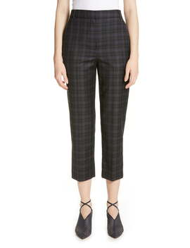 Taylor Marvel Plaid Crop Pants by Tibi