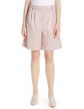 Cross Dye Stretch Wool Shorts by Tibi