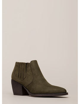 Only In Legends Block Heel Booties by Go Jane
