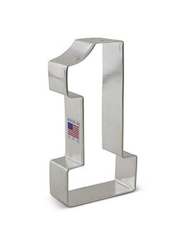 Large Number One #1 Cookie Cutter   4.4 Inches Ann Clark   Us Tin Plated Steel by Ann Clark Cookie Cutters