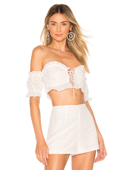 X Revolve Lilly Eyelet Top by Superdown