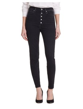 Olivia High Rise Button Fly Straight Leg Jeans by Citizens Of Humanity