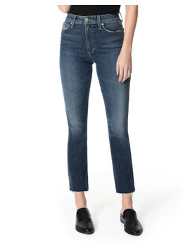 The Milla Cut Hem High Rise Straight Leg Jeans by Joe's Jeans