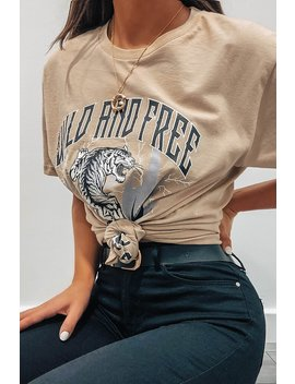 Sand Wild And Free Oversized T Shirt by I Saw It First
