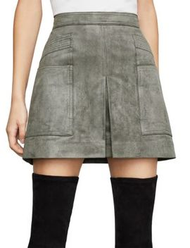Faux Suede Utility Mini Skirt by Bcbgmaxazria