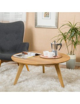 Canton Round Acacia Wood Coffee Table By Christopher Knight Home by Christopher Knight Home