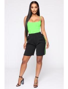 On Another Level Shorts   Black/Combo by Fashion Nova