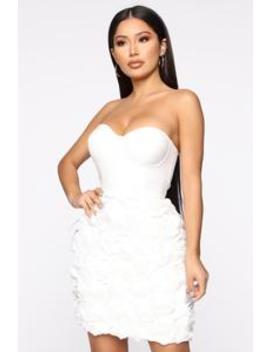 Amore De Mi Vida Floral Dress   White by Fashion Nova