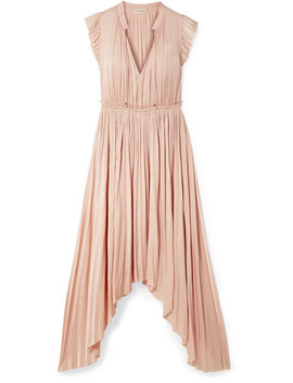 Senna Asymmetric Satin Midi Dress by Ulla Johnson