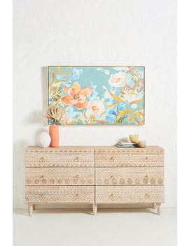 Handcarved Delhi Six Drawer Dresser by Anthropologie