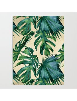 tropical-island-republic-green-on-linen-poster by society6